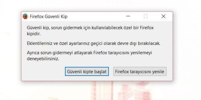 firefox güvenli