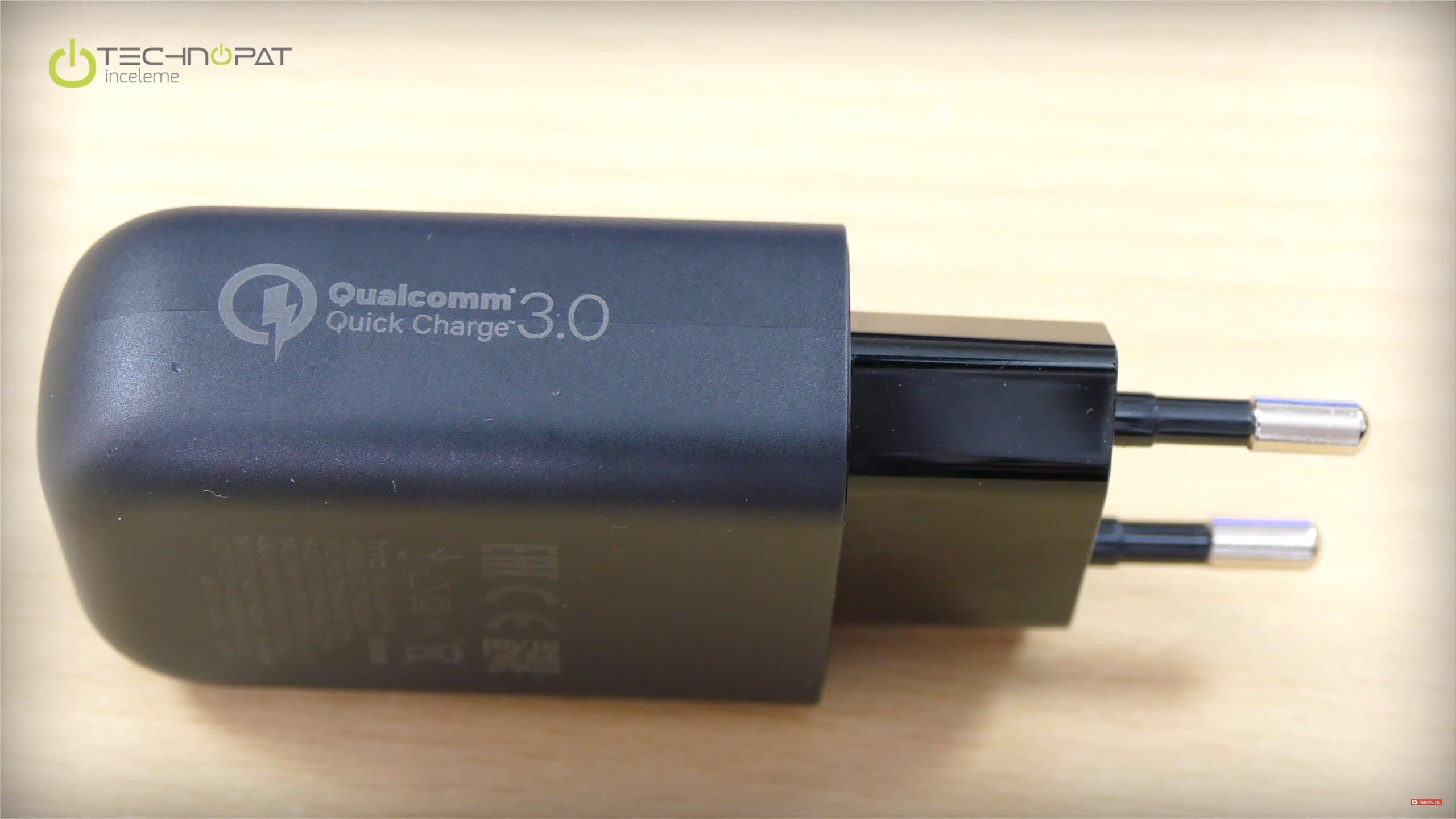 Quick Charge 3.0 destekli şarj cihazı