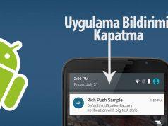 Android Bildirim Kapatma Rehberi