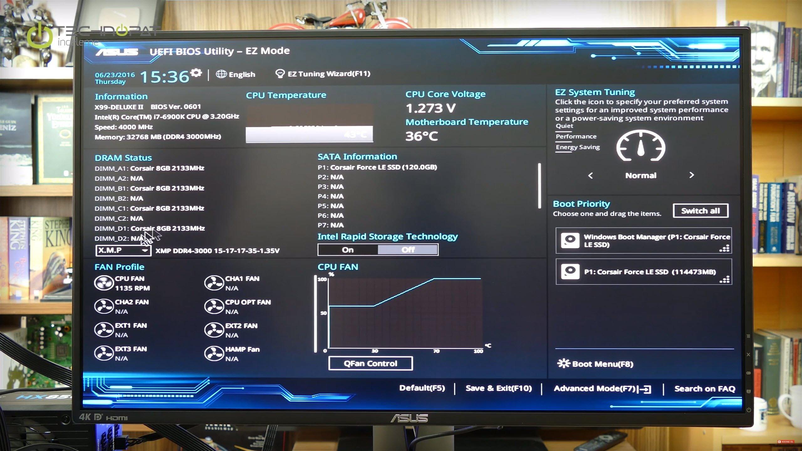 X99 Deluxe 2 BIOS ayarları