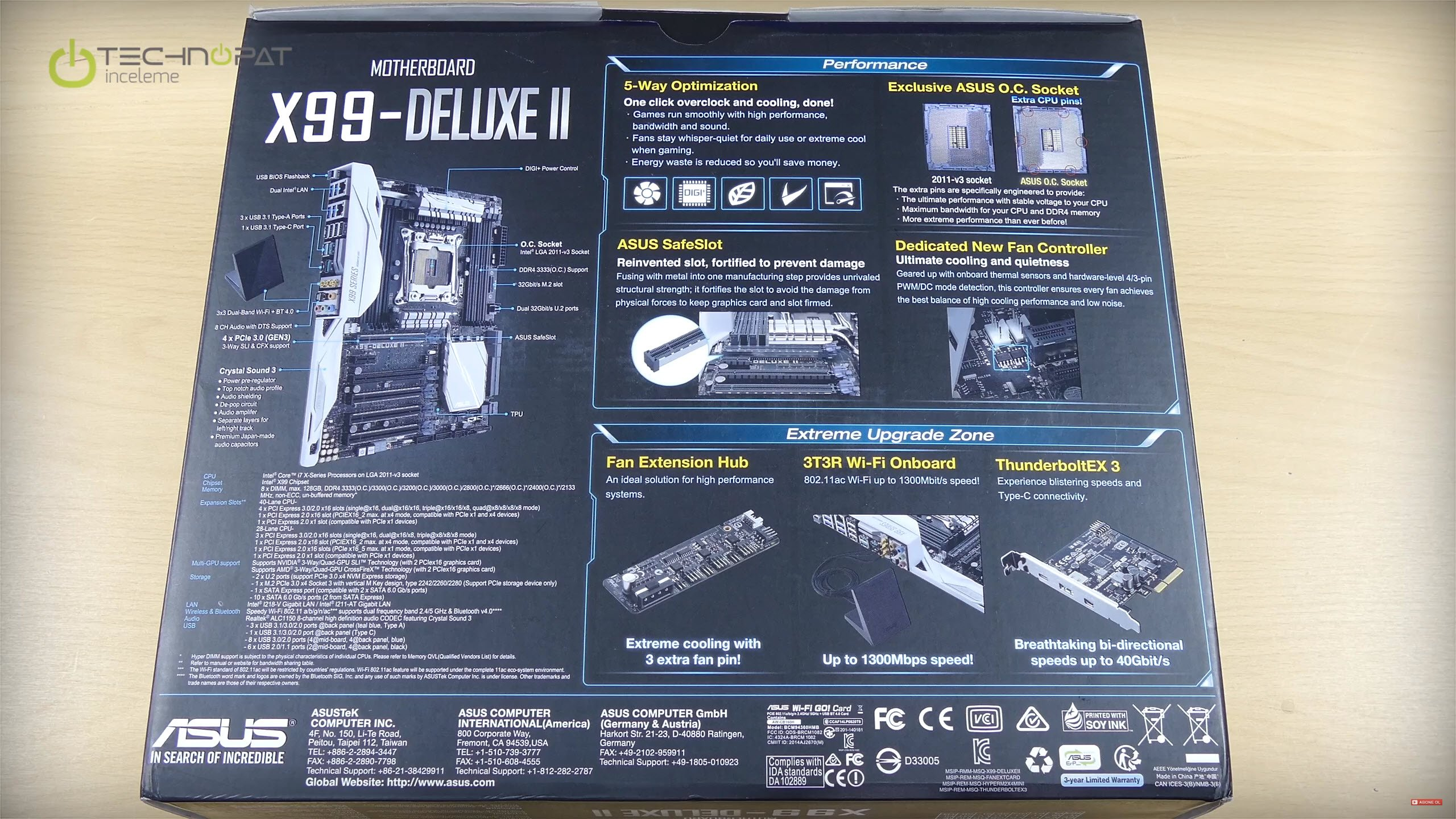 X99 Deluxe 2 ana özellikler ve kutu içeriği