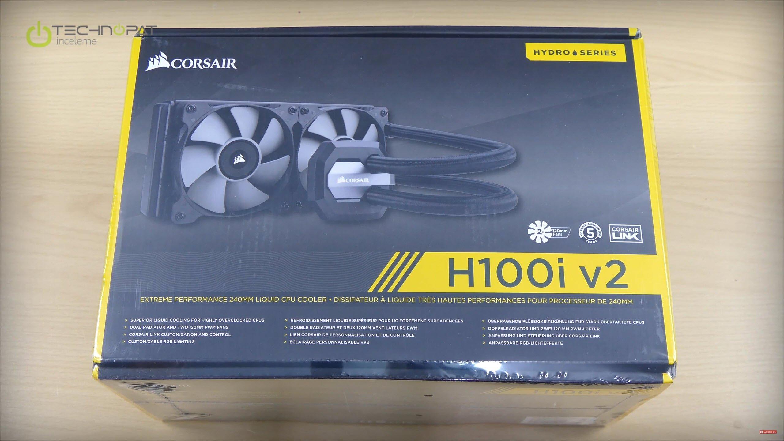 Corsair H100i V2 işlemci soğutucu: 240 mm radyatör ile sıvı işlemci soğutucu da yenilendi V2 oldu