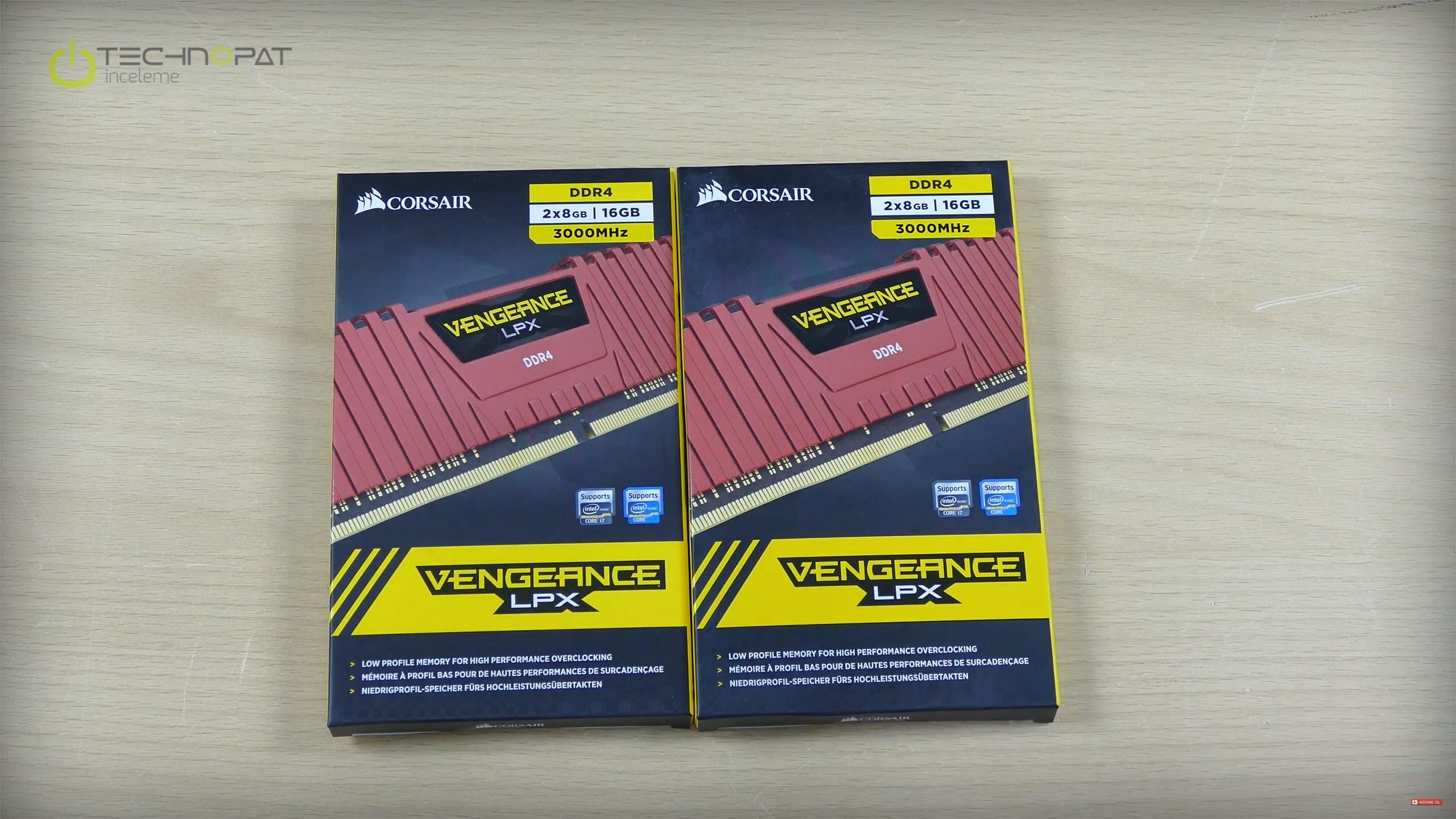 Corsair Vengeance LPX DDR4 RAM'ler XMP ile 3000 MHz destekliyor