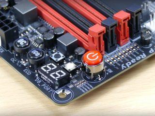 Gigabyte Z170X Gaming 7 İncelemesi: OC için özel ölçüm noktaları, tuşlar ve göstergeler
