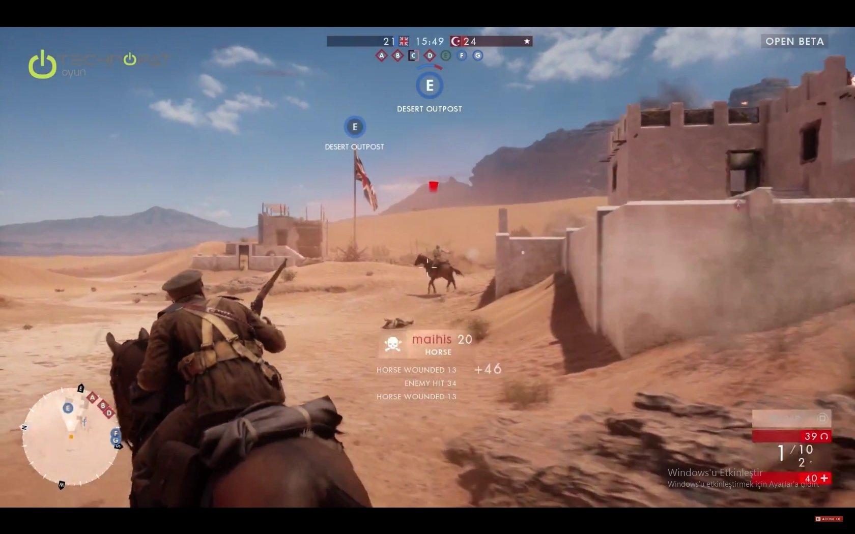 PlayStation 4'te Battlefield 1 Beta Oynuyoruz