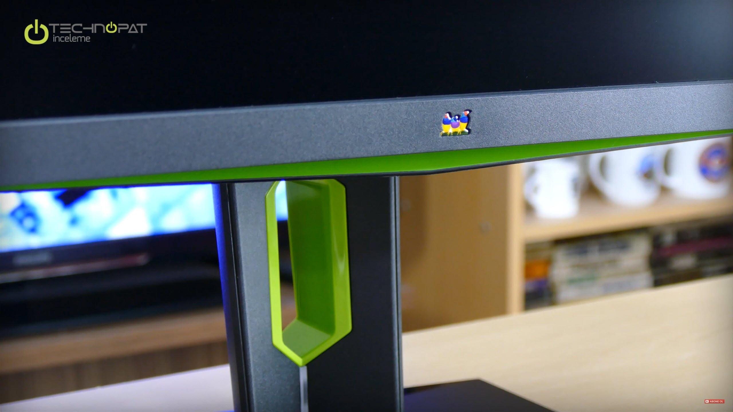 Yeşil Nvidia rengi ile uyumlu, ViewSonic logosu artık daha ufak
