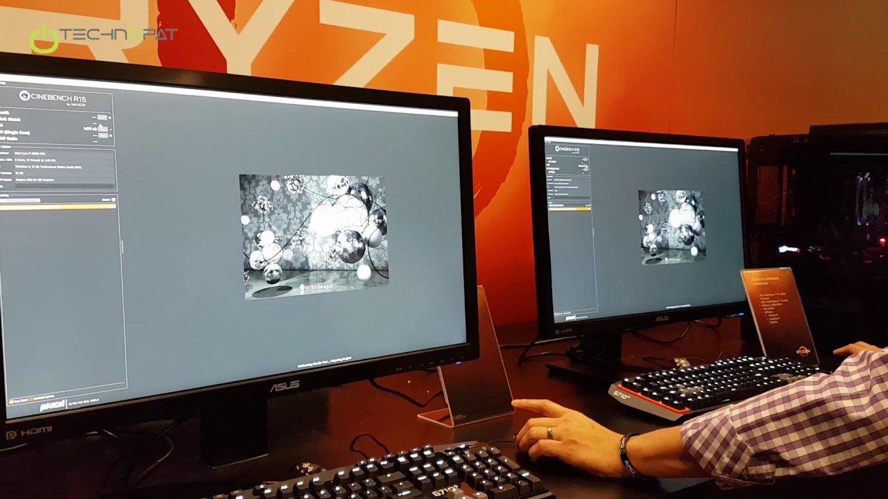 Ryzen 7 1800X vs i7 6900K: Cinebench Performansı