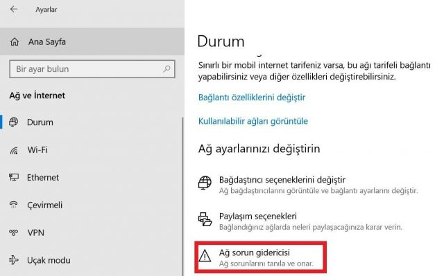 Windows Ag Ve Internet Sorunlari Nasil Cozulur Technopat