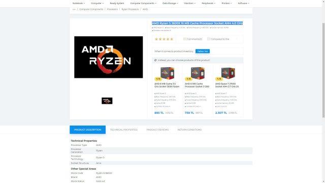 AMD Ryzen 3000 serisi