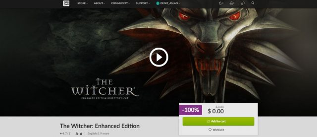The Witcher Enhanced Edition ücretsiz