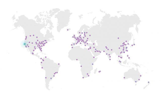 Cloudflare, Warp VPN Hizmetini Duyurdu 4 – cloudflare network map 1