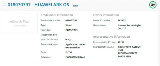 Huawei işletim sistemi ARK OS