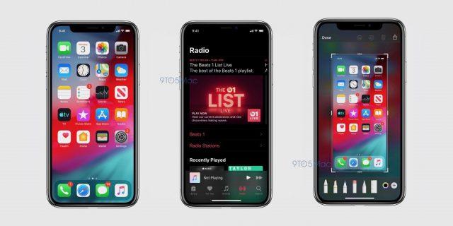 iOS 13 ekran görüntüleri
