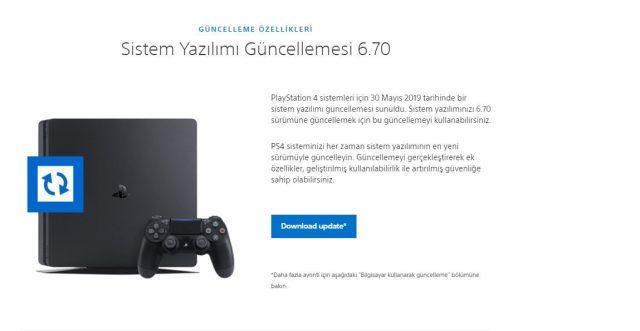 PlayStation 4 sistem yazılımı güncellemesi 6.70