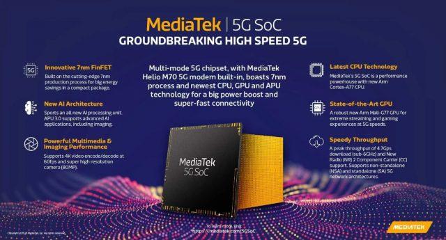 Uygun fiyatlı telefonlar için Mediatek 5G SoC işlemcisi
