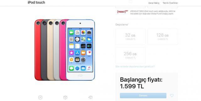 yeni ipod touch fiyatı ve özellikleri