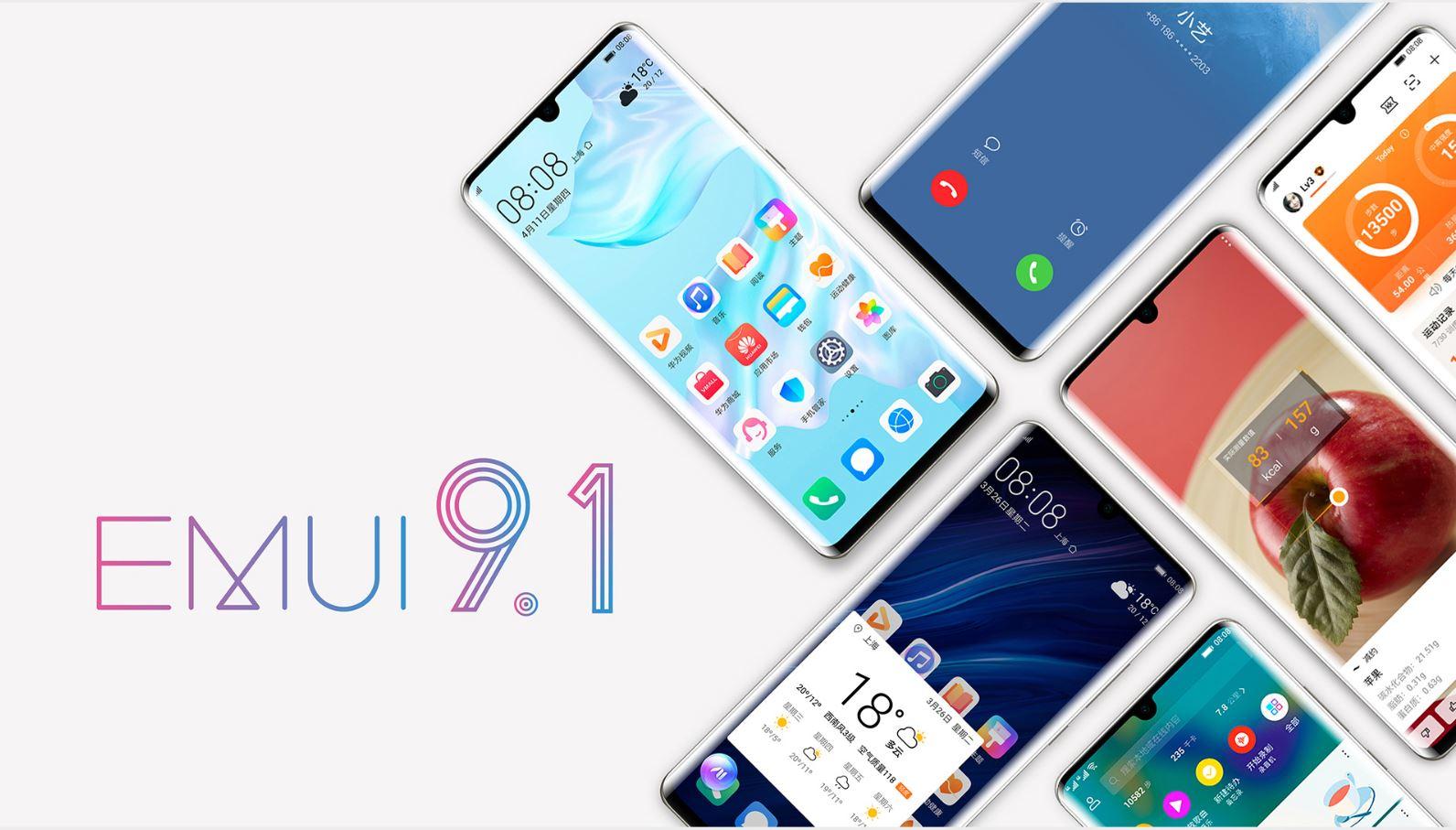 EMUI 9.1 güncellemesi alacak huawei telefonlar