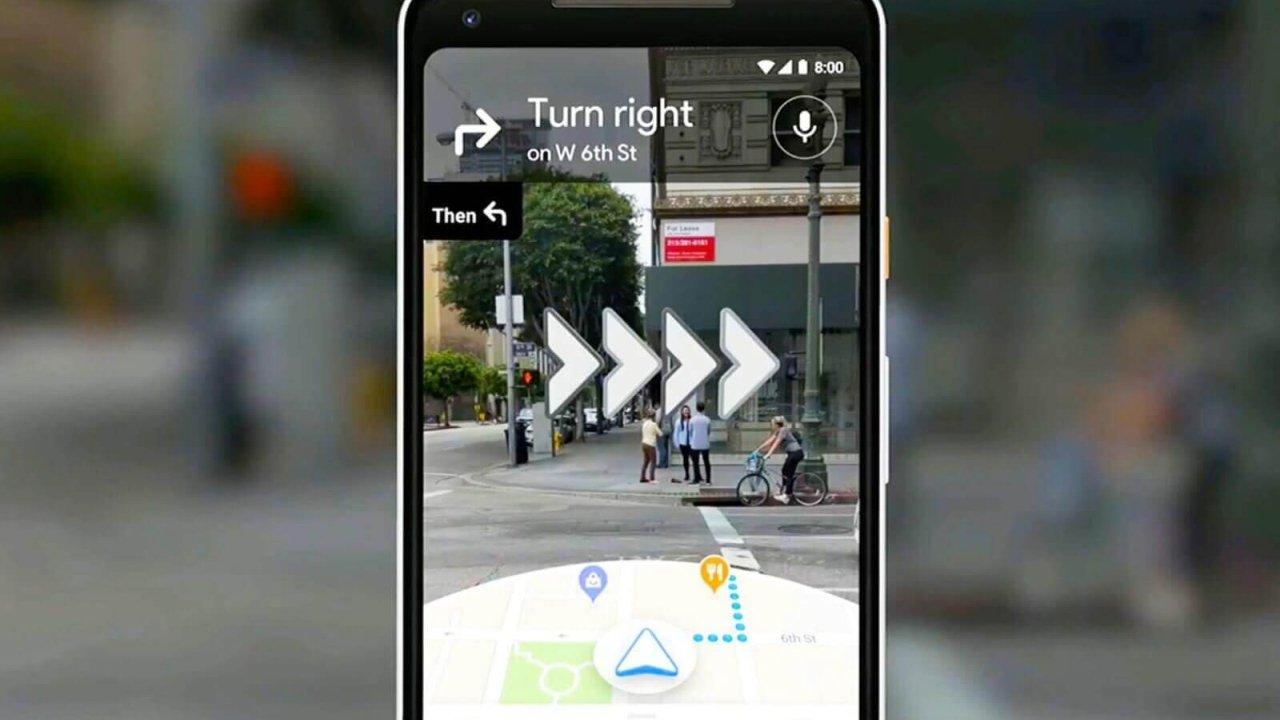Google Haritalar Artırılmış Gerçeklik