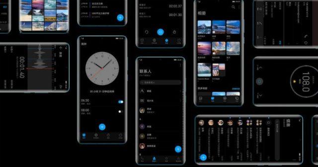 Huawei EMUI 10 arayüz tasarımı