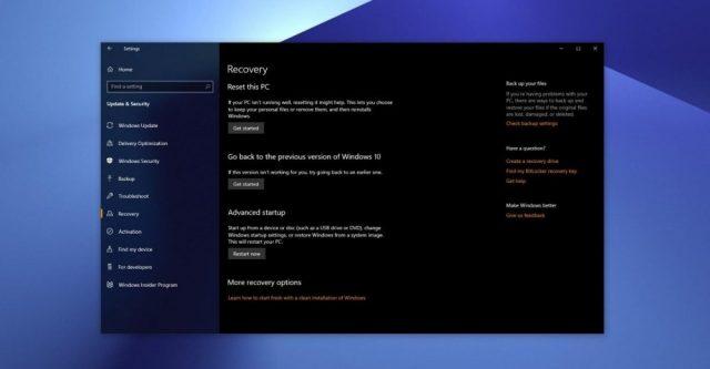 Windows Buluttan Sistem Geri Yükleme