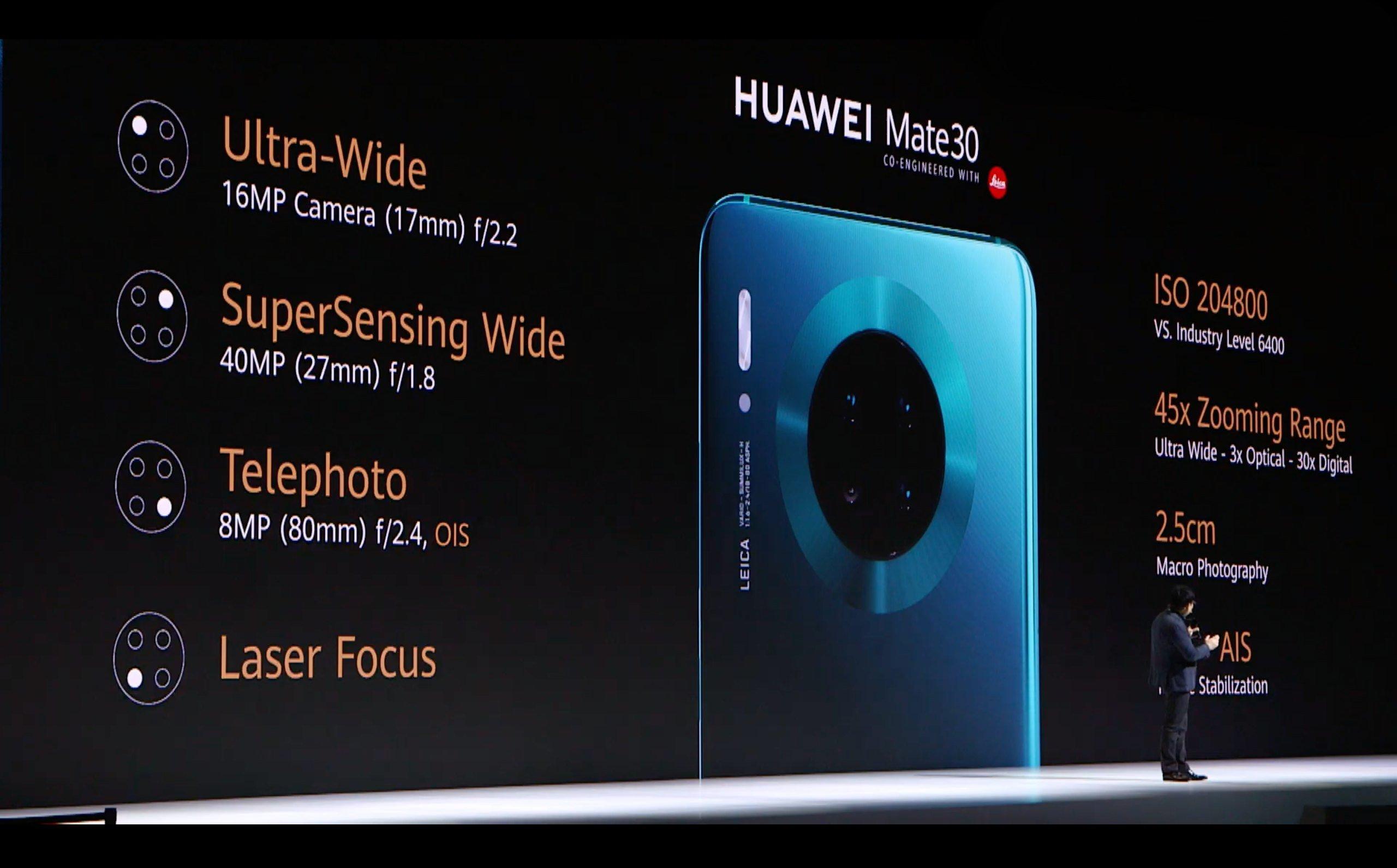 Huawei Mate 30 kamera özellikleri