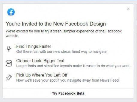 Facebook Karanlık Tema