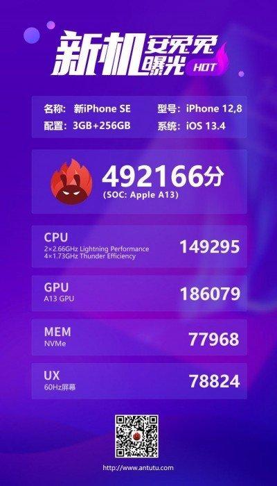 iPhone SE 2020 AnTuTu puanı