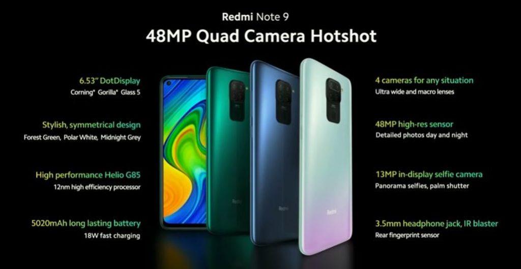 Xiaomi Redmi Note 9 özellikleri