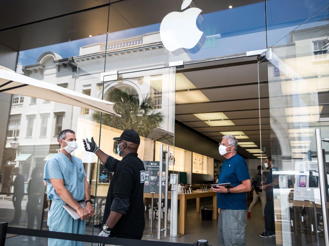 apple mağazaları covid-19