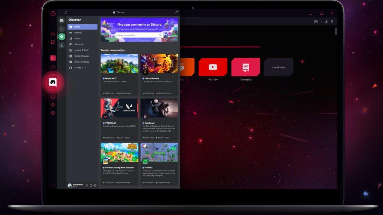 Opera GX yeni özellikler