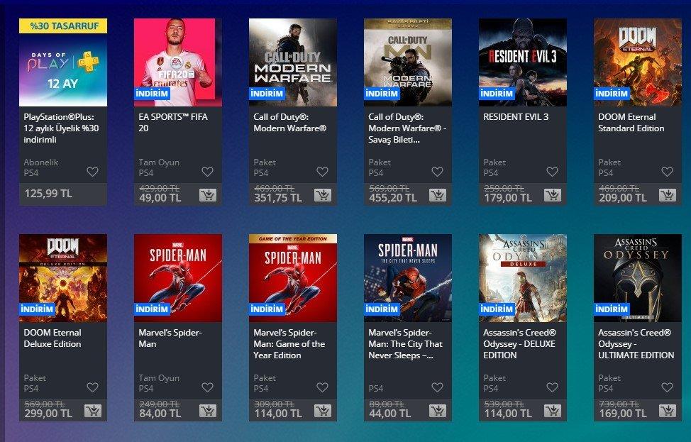 PlayStation Days of Play İndirimleri