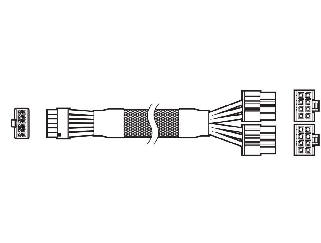 Corsair RTX 3000 12 pin güç kablosu