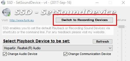 Windows 10'da Varsayılan Ses Aygıtını Değiştirme