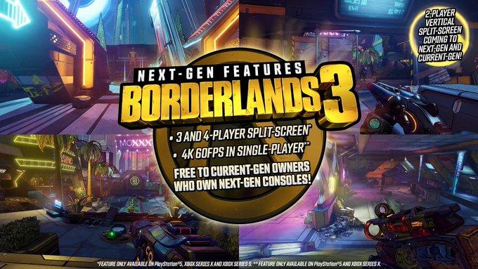 Borderlands 3 PlayStation 5 ve Xbox Series X