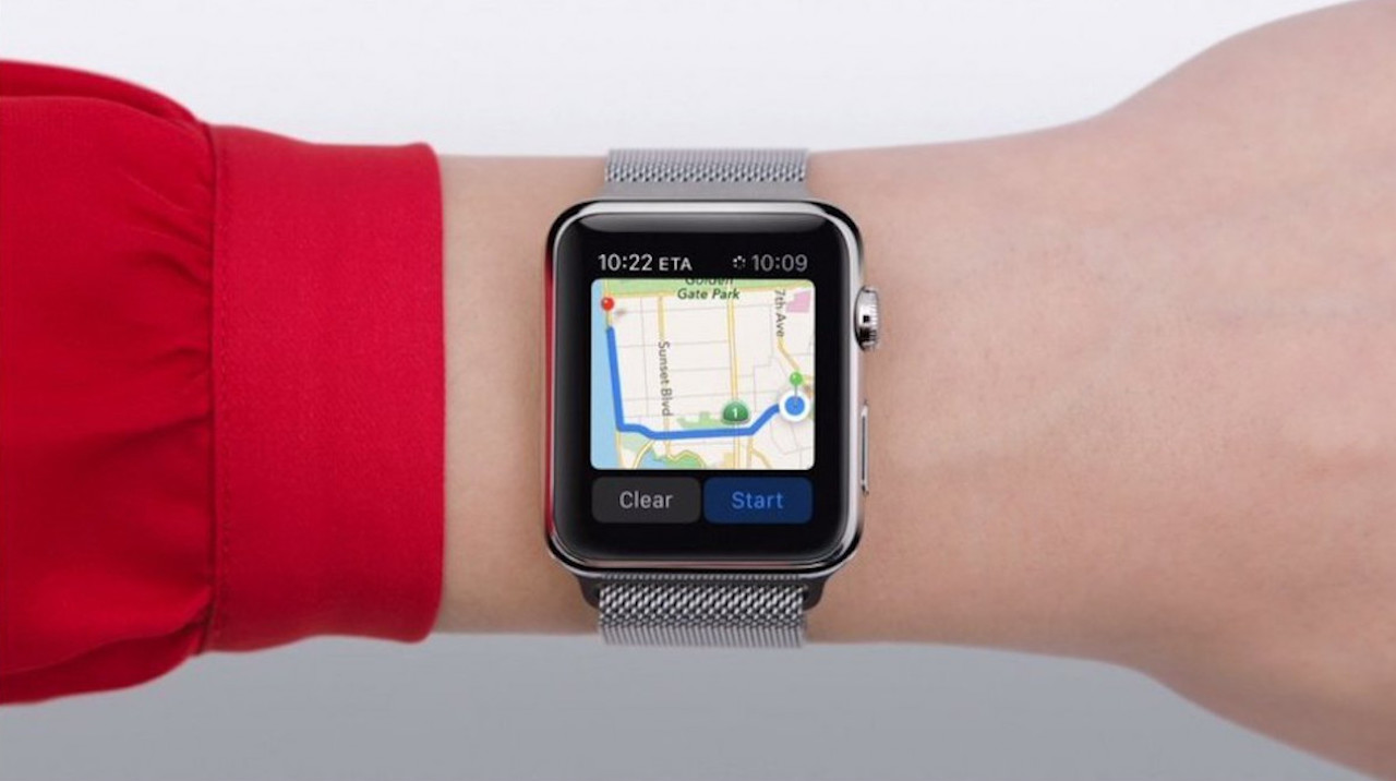 Google Haritalar Apple Watch