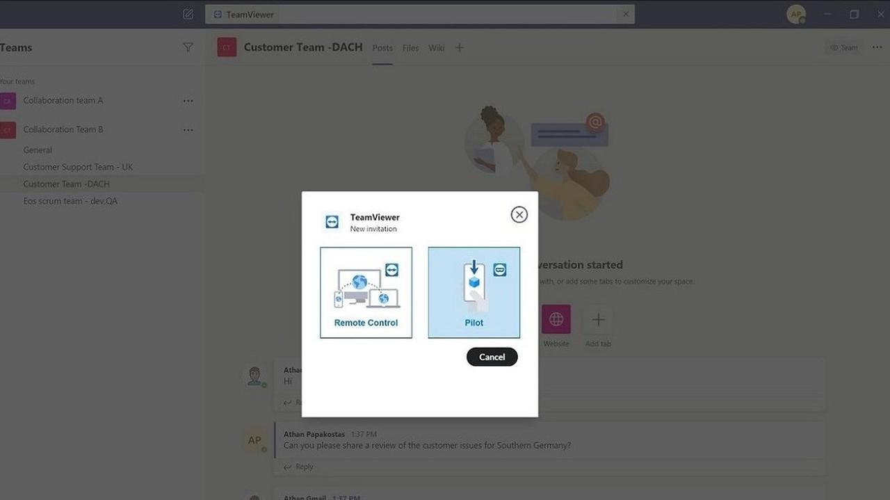 TeamViewer Microsoft Teams
