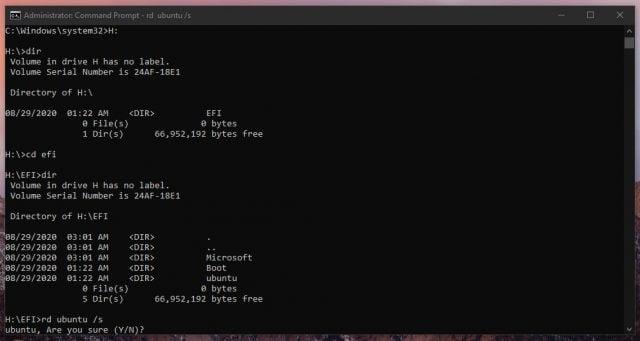 UEFI DualBoot Yapılandırmasından Ubuntu Nasıl Kaldırılır?
