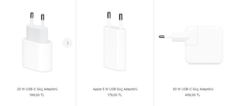 iPhone güç adaptörü fiyatı