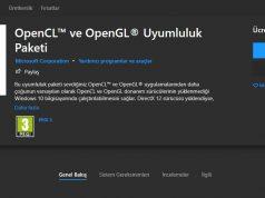 Windows 10 için OpenCL ve OpenGL