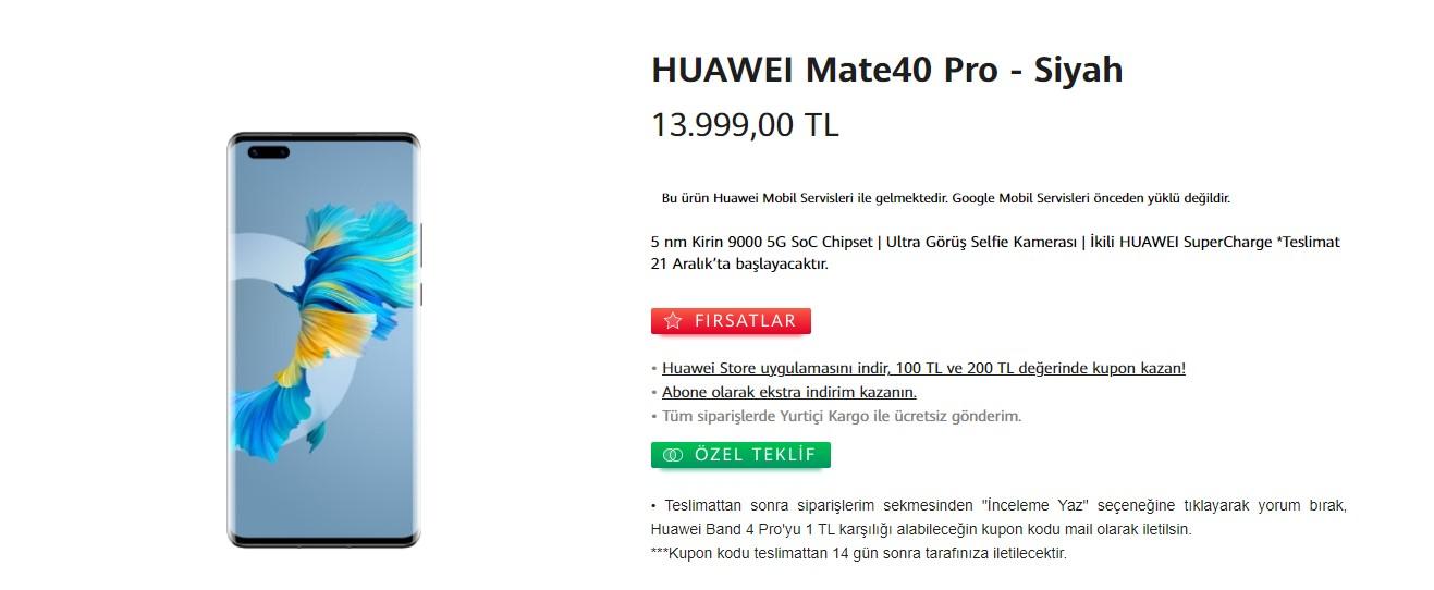 Huawei Mate 40 Pro Türkiye fiyatı