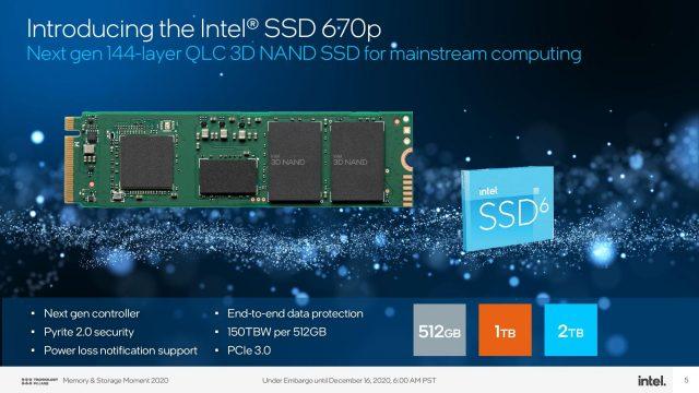 Intel Yeni Jenerasyon 670p ve Optane H20 SSD'lerini Duyurdu