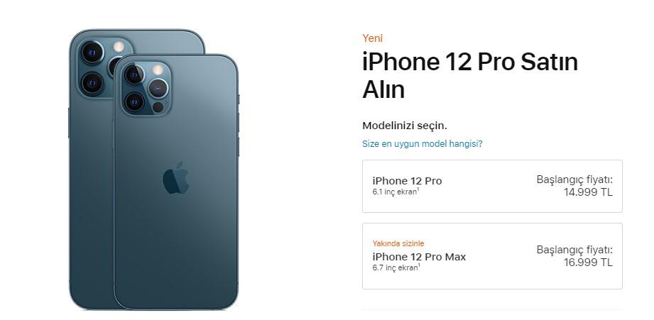 iPhone 12 Pro fiyatı