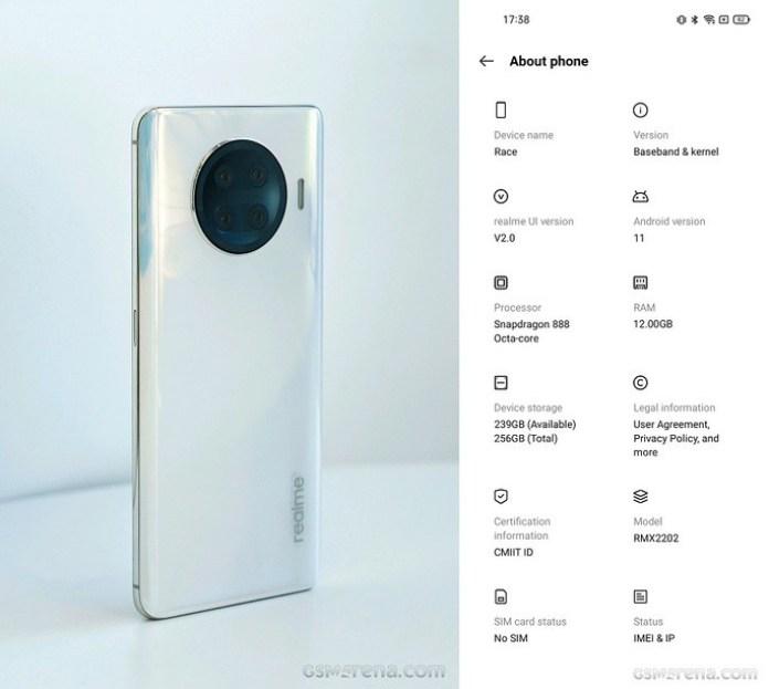 Snapdragon 888 işlemcili Realme Race özellikleri