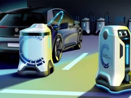 volkswagen elektrikli araç şarj robotu