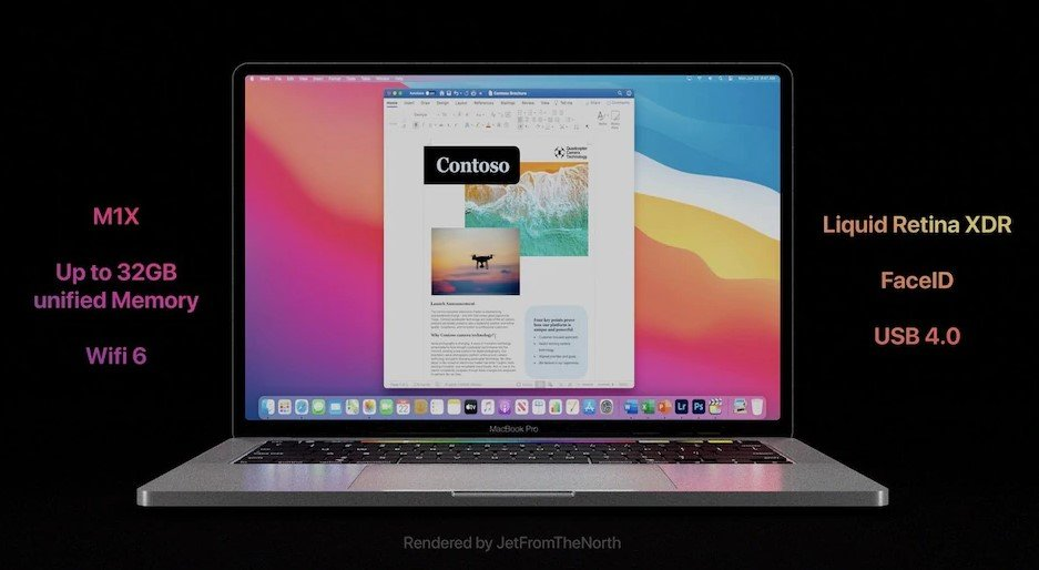 Yeni MacBook Pro modelleri M1X işlemci