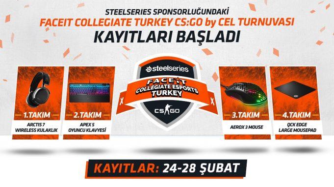 Faceit Collegiate Turkey CS:GO by CEL Turnuvası Kayıtları Başladı