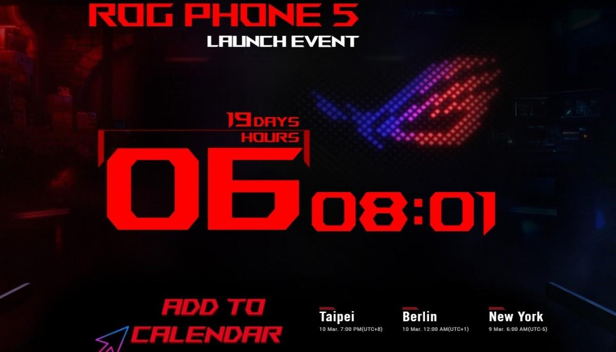 Asus ROG Phone 5 tanıtım tarihi