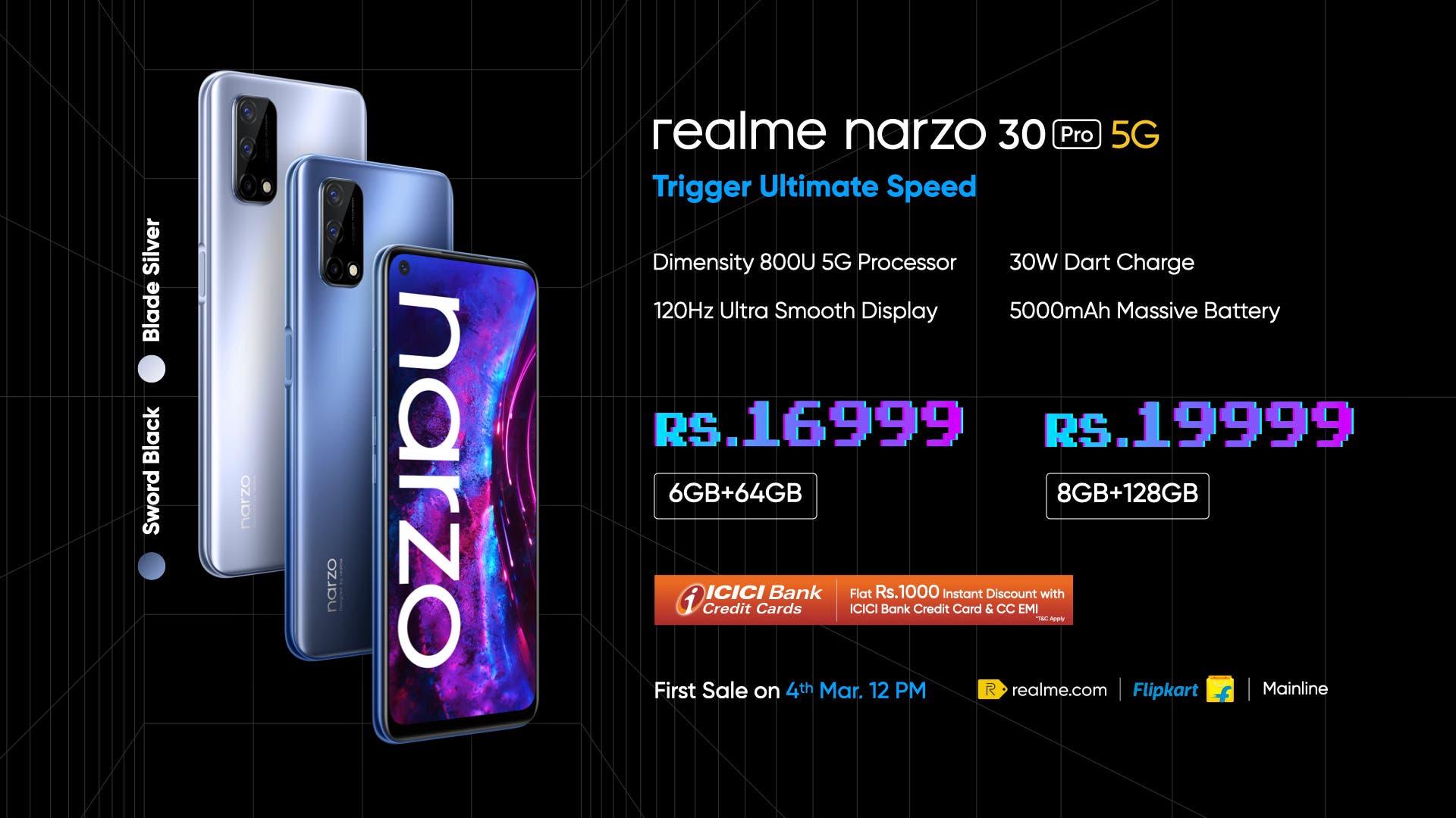 Realme Narzo 30 Pro özellikleri
