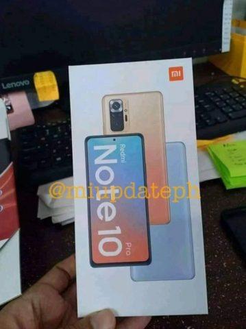 Redmi Note 10 Pro tasarımı
