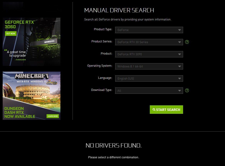 NVIDIA RTX 30 Sürücü Desteği